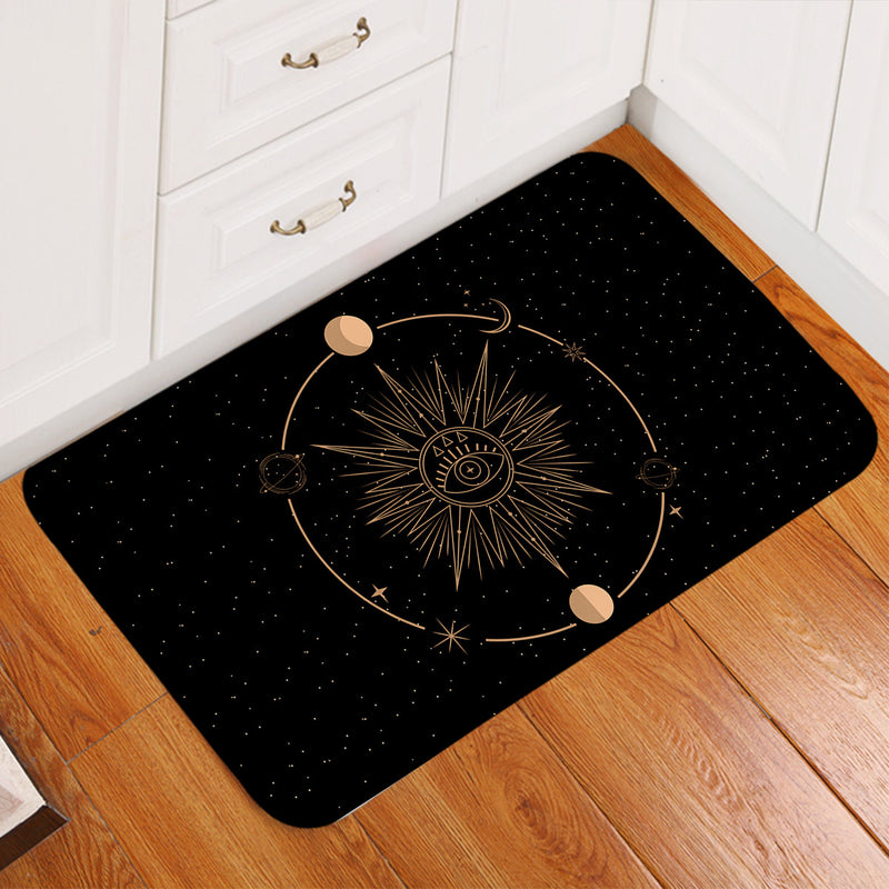 Minds Eye - Black Floor Mat - Bohemian Vibes Australia