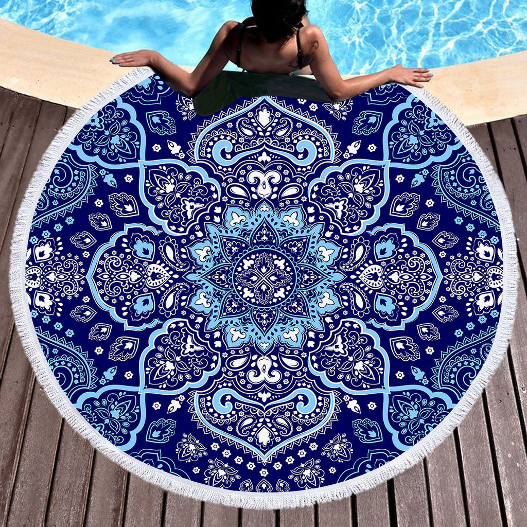 Endless Blues Throw / Beach Towel - Bohemian Vibes Australia