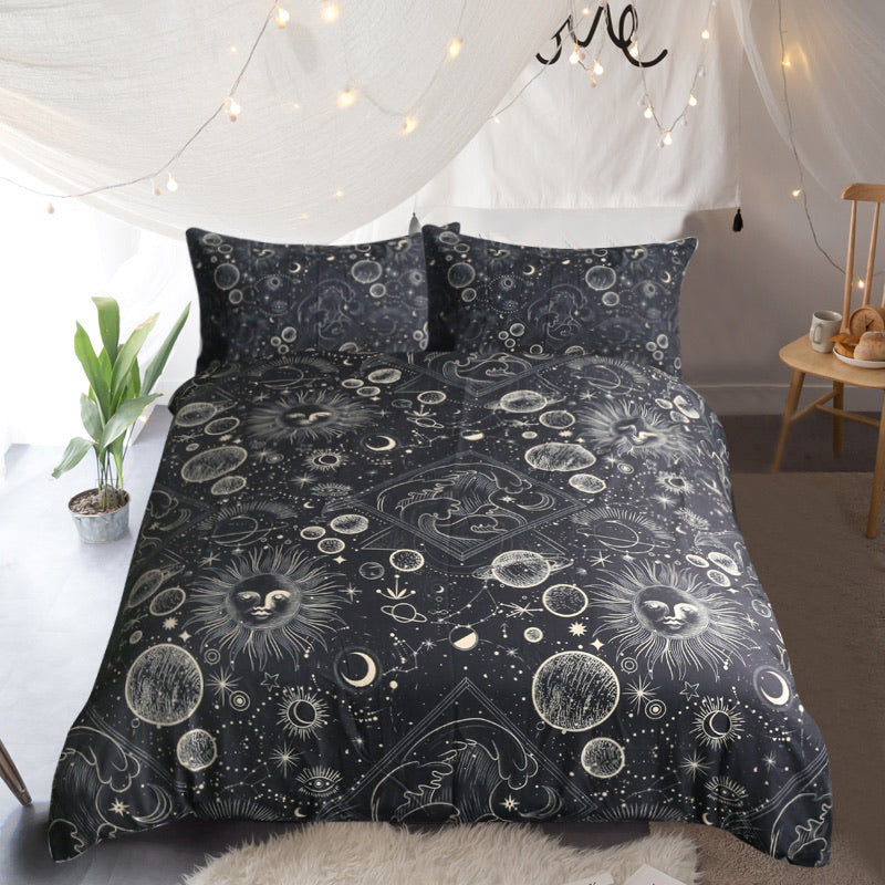 Astrology Quilt Cover Set - Bohemian Vibes Australia