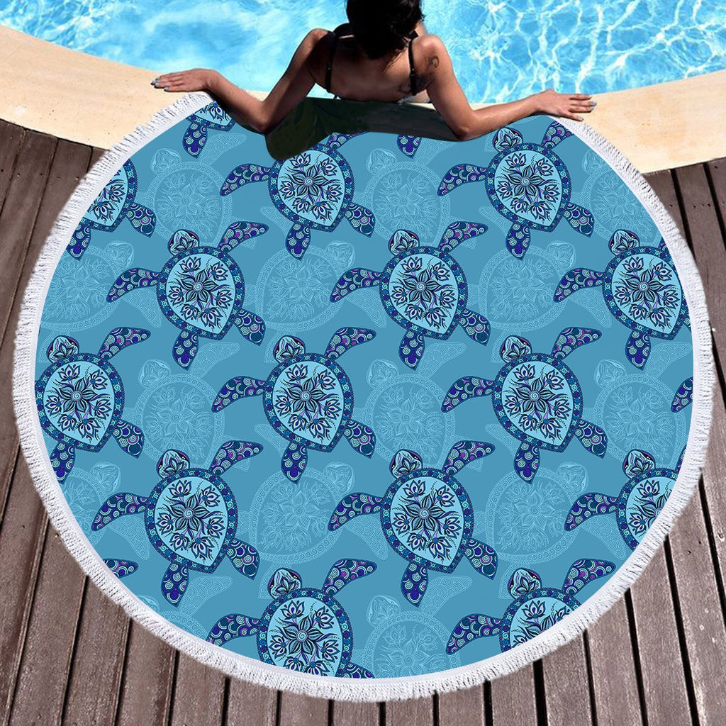 Sea Turtle Throw / Beach Towel - Bohemian Vibes Australia