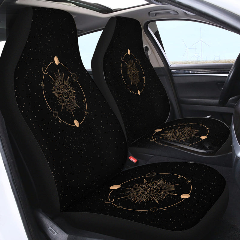 Minds Eye - Black Car Seat Covers - Bohemian Vibes Australia