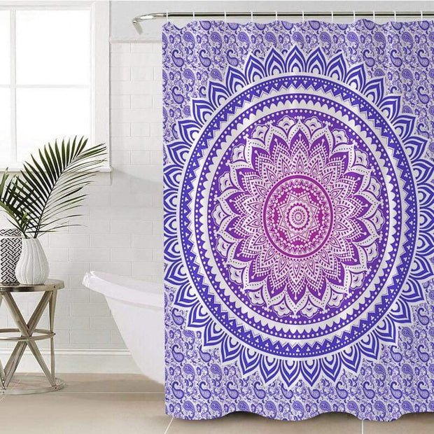 Purple Ombré Mandala Shower Curtain