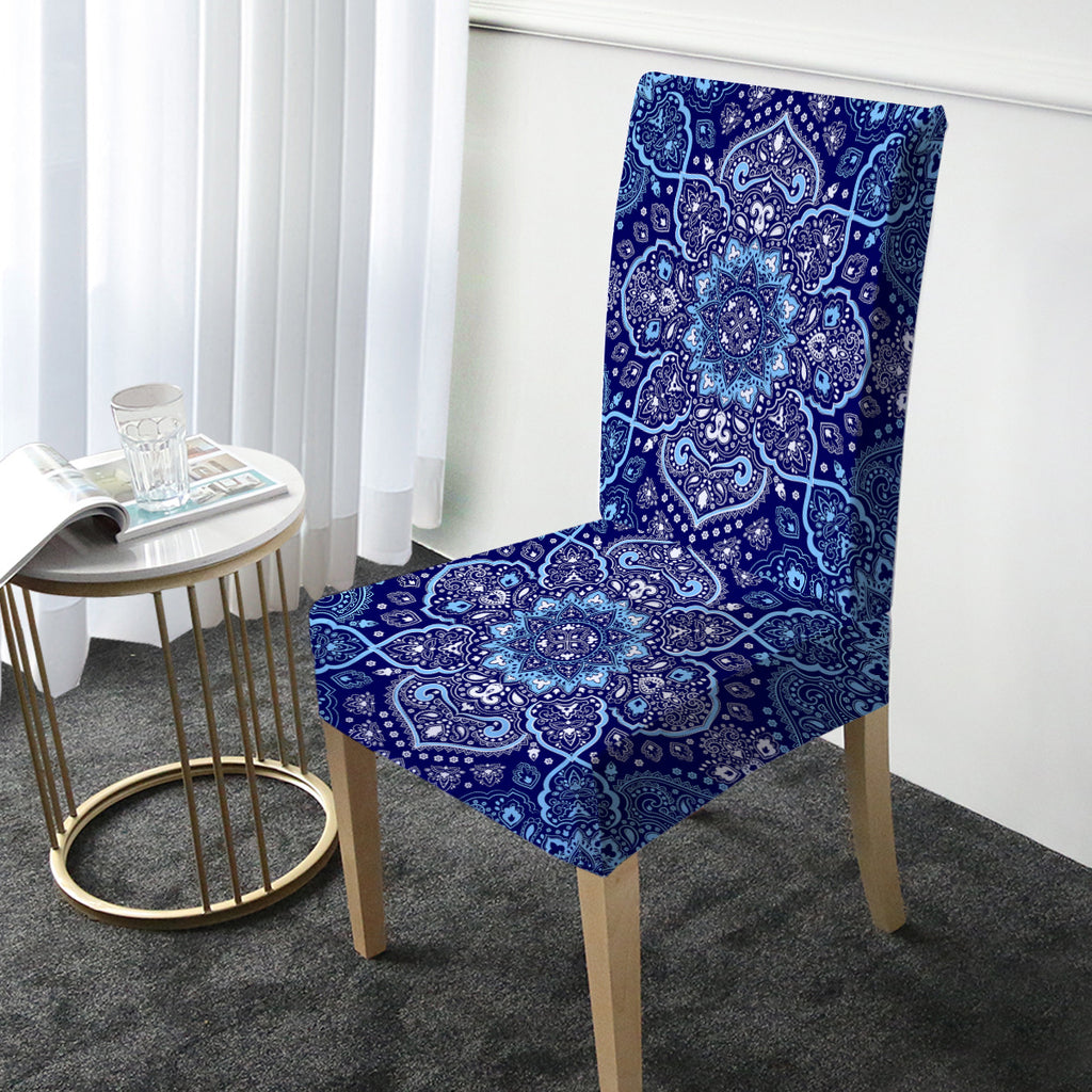 Endless Blues Chair Cover - Bohemian Vibes Australia