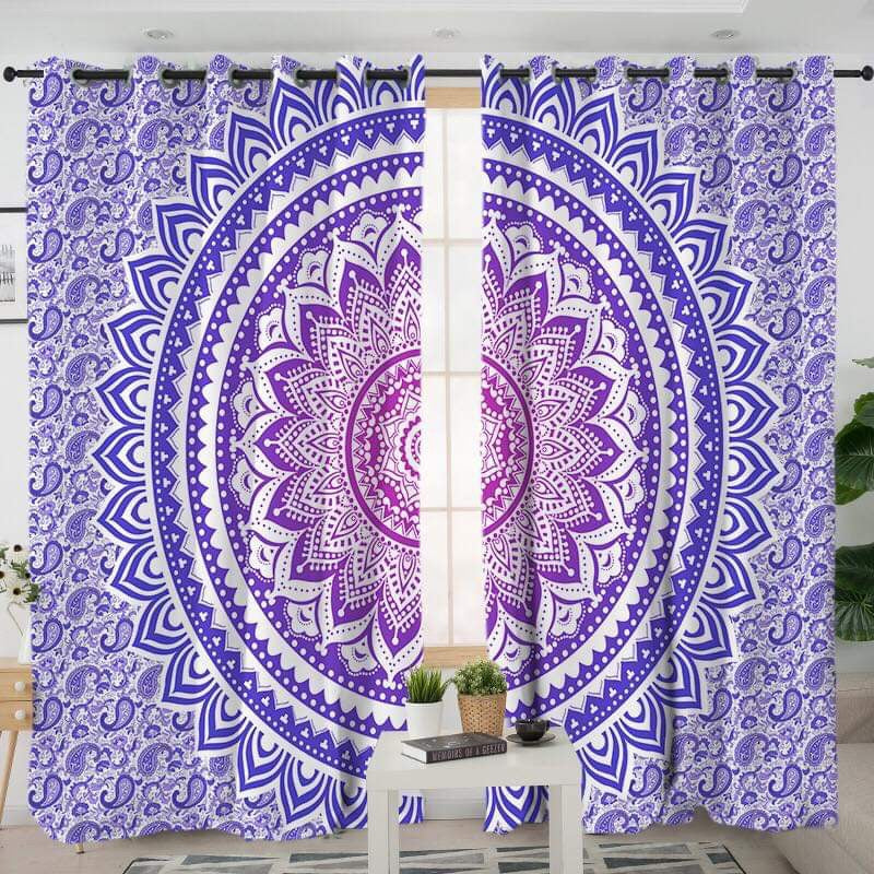 Purple Ombré Curtains - Bohemian Vibes Australia