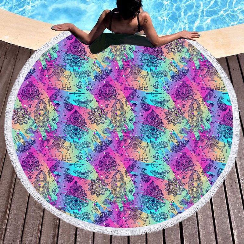 Yogi Throw / Beach Towel - Bohemian Vibes Australia