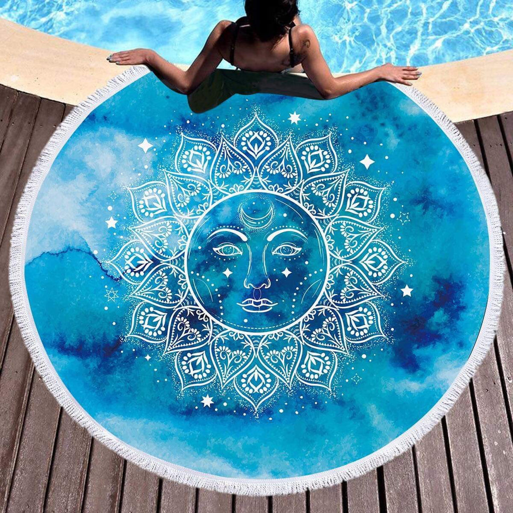 Mandala Sun Throw / Beach Towel - Bohemian Vibes Australia