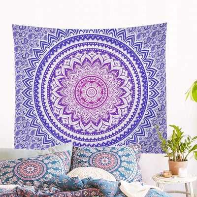 Purple Ombré Mandala Wall Tapestry