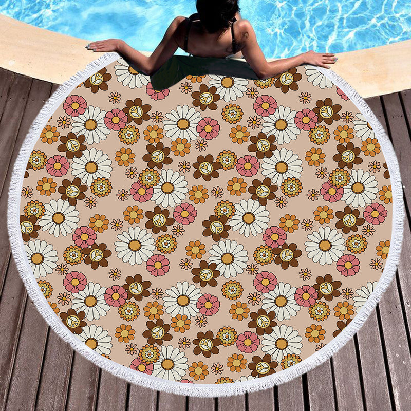 Flower Child Throw / Beach Towel - Bohemian Vibes Australia