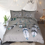 Good Vibes Only Blue Quilt Cover Set - Bohemian Vibes Australia