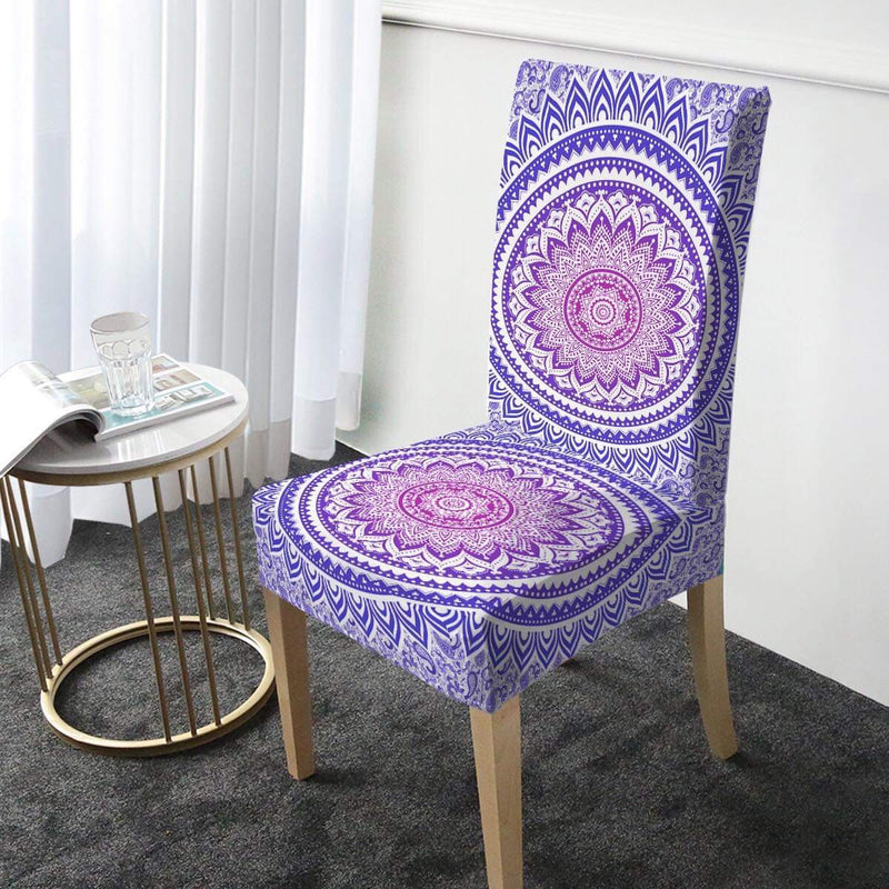 Purple Ombré Mandala Chair Cover - Bohemian Vibes Australia