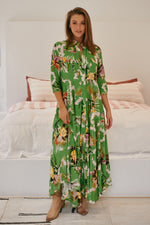 Candice Dress -  Bird Of Paradise Print - Bohemian Vibes Australia