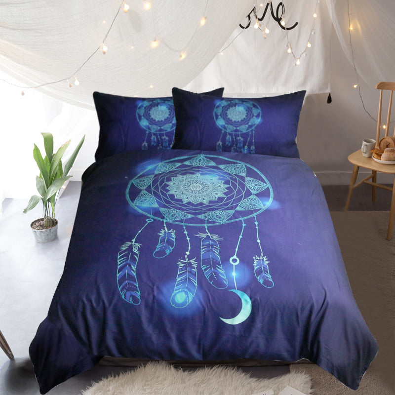 Blue Dreamcatcher Quilt Cover Set - Bohemian Vibes Australia