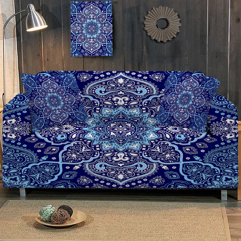 Endless Blues Sofa Cover - Bohemian Vibes Australia