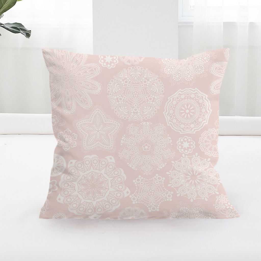 Pastel Rose Square Cushion Cover