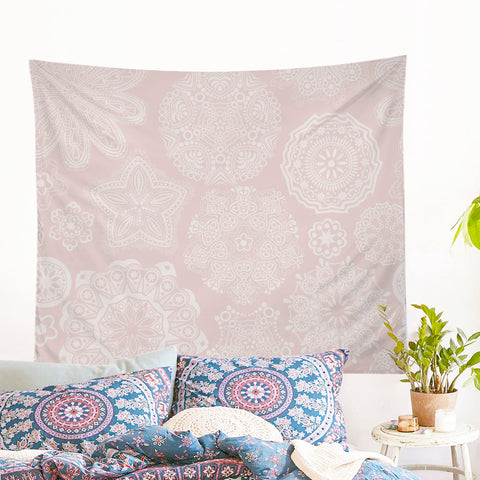 Pastel Rose Wall Tapestry