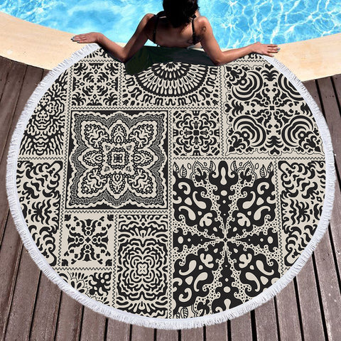 Luxe Round Beach Throw / Beach Towel