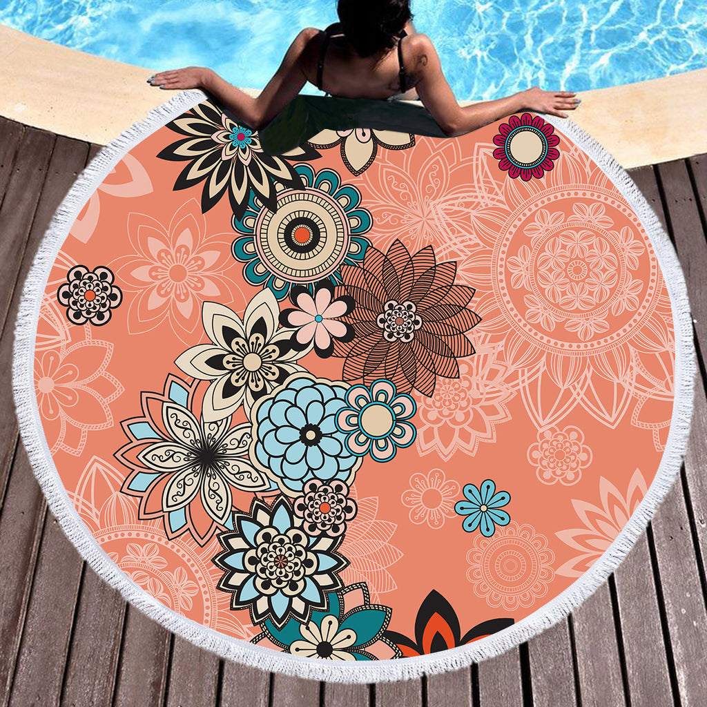 Coral Throw / Beach Towel - Bohemian Vibes Australia