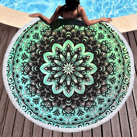 Mehndi Round Beach Towel  *LIMITED EDITION*