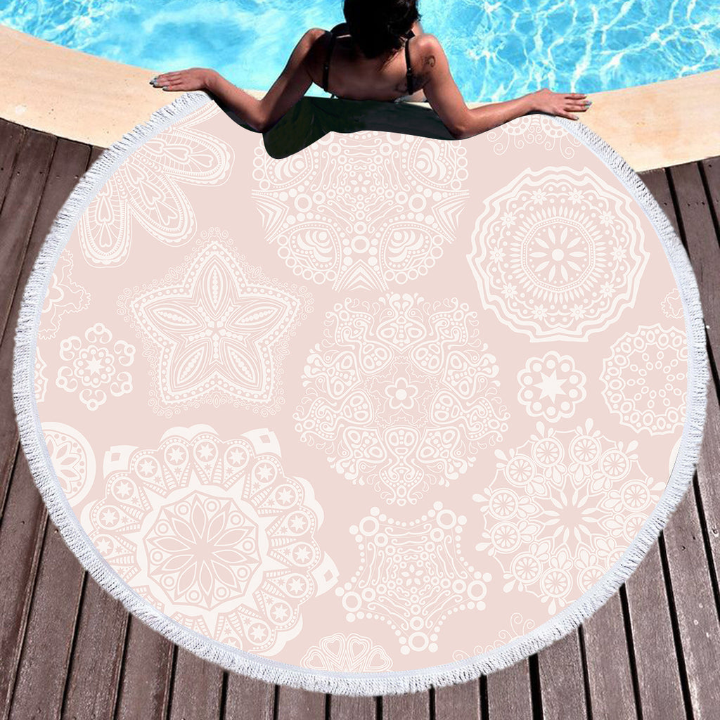 Pastel Rose Throw / Beach Towel - Bohemian Vibes Australia