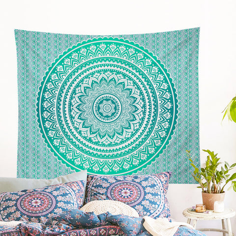 Mermaid Mandala Wall Tapestry