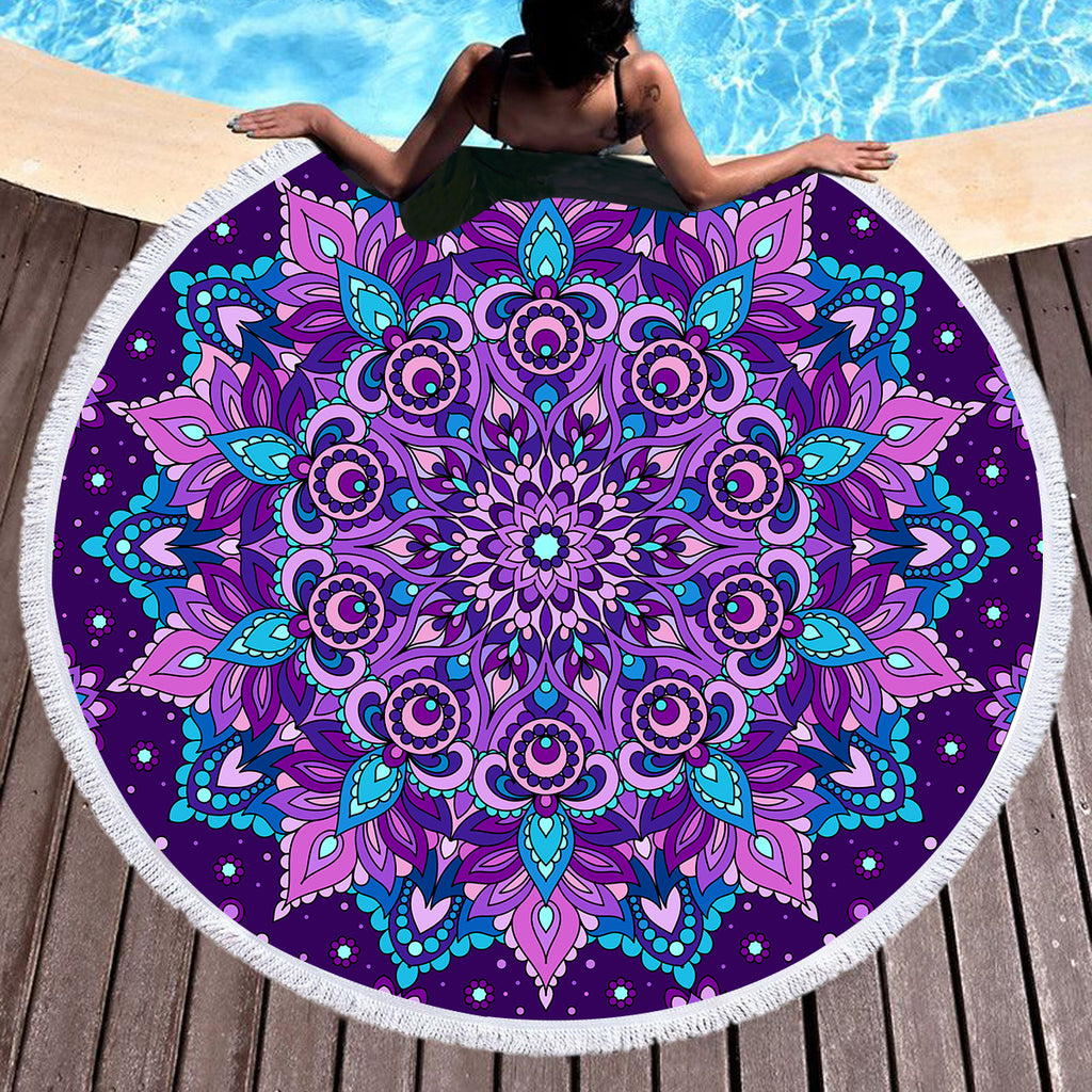 Mystical Round Throw/Beach Towel - Bohemian Vibes Australia