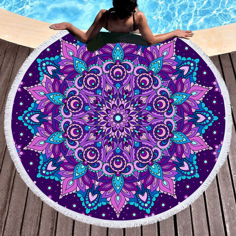 Mystical Round Throw/Beach Towel