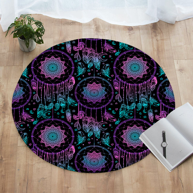 Dream Come True Round Floor Mat - Bohemian Vibes Australia
