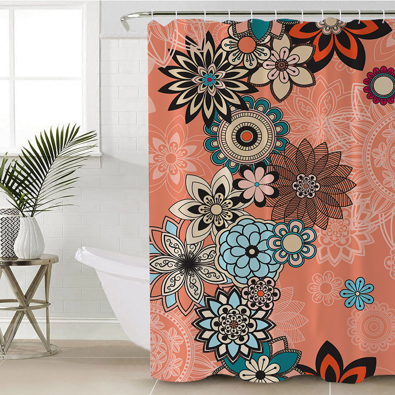 Coral Shower Curtain - Bohemian Vibes Australia