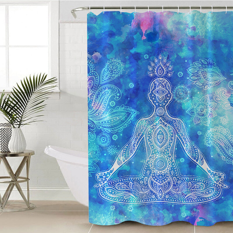 Mantra Shower Curtain - Bohemian Vibes Australia