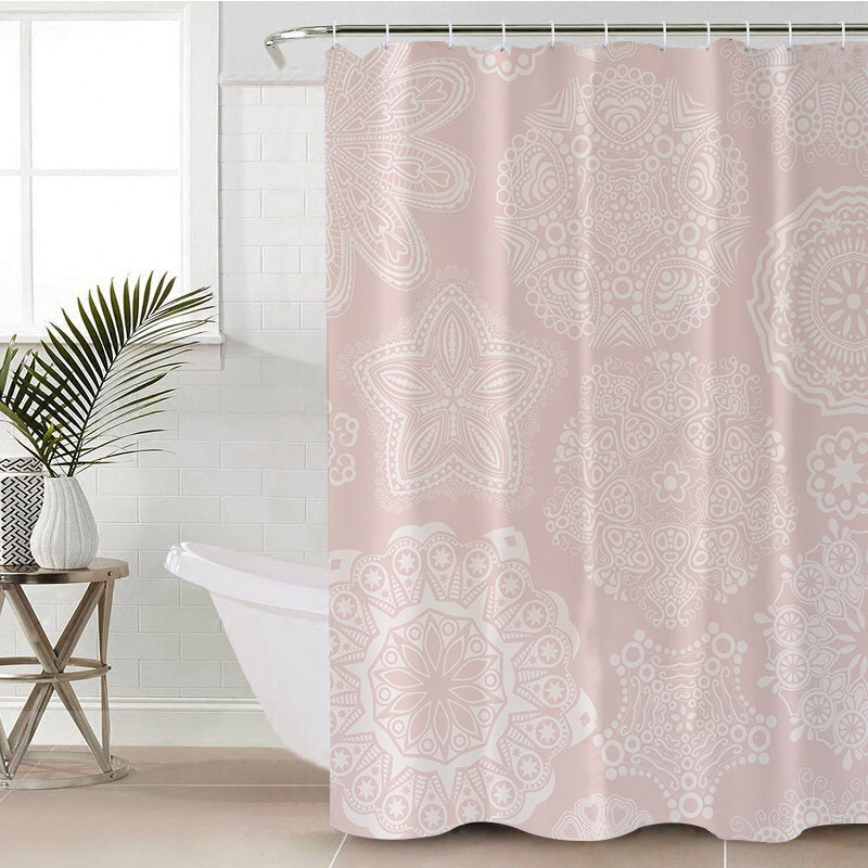 Pastel Rose Shower Curtain - Bohemian Vibes Australia