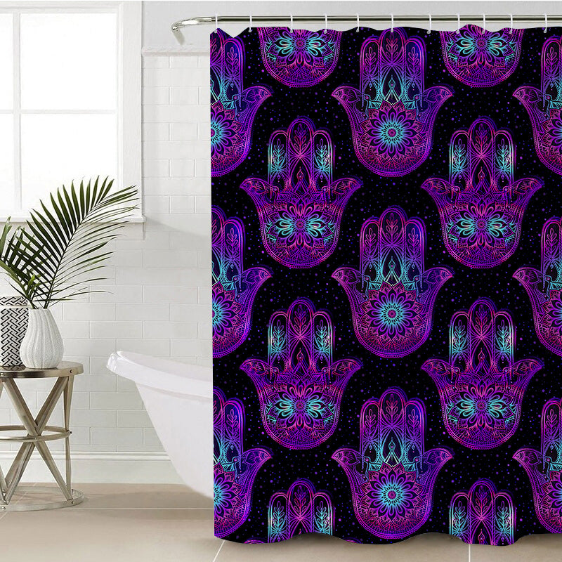 Hand of Hamsa Shower Curtain - Bohemian Vibes Australia
