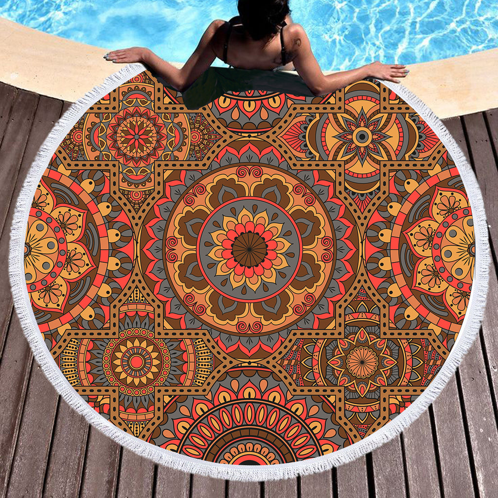Sahara Round Throw / Beach Towel - Bohemian Vibes Australia