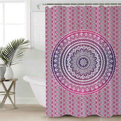 Pink Ombre Shower Curtain