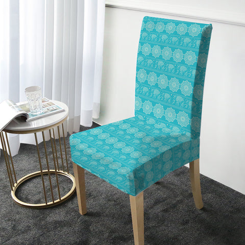 Turquoise Elephant Chair Cover