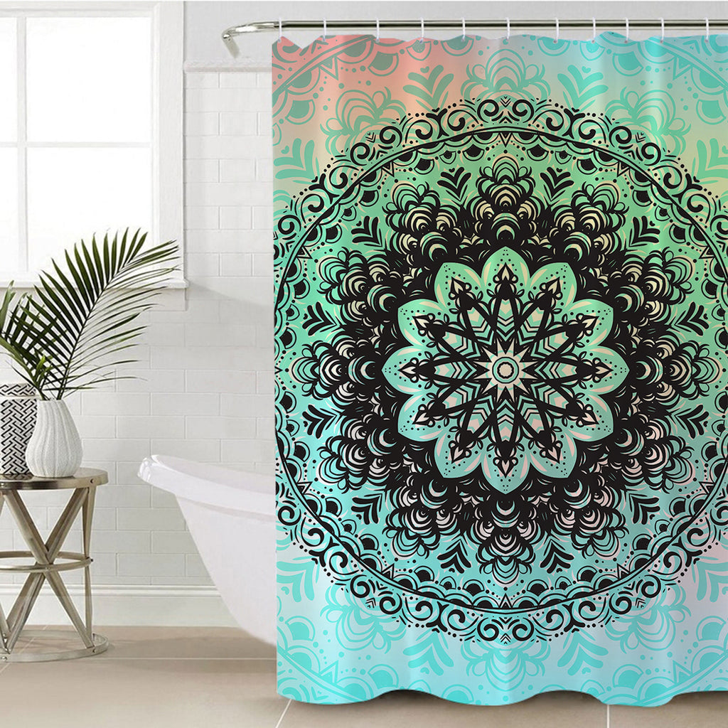 Mehndi Shower Curtain - Bohemian Vibes Australia