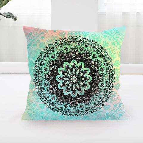 Mehndi Square Cushion Cover