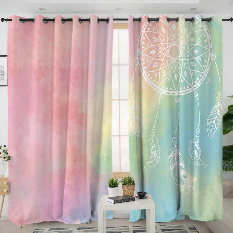 Rainbow Bohemian Dreams Curtains - Bohemian Vibes Australia