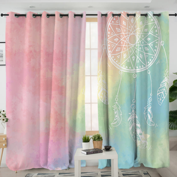 Rainbow Bohemian Dreams Curtains