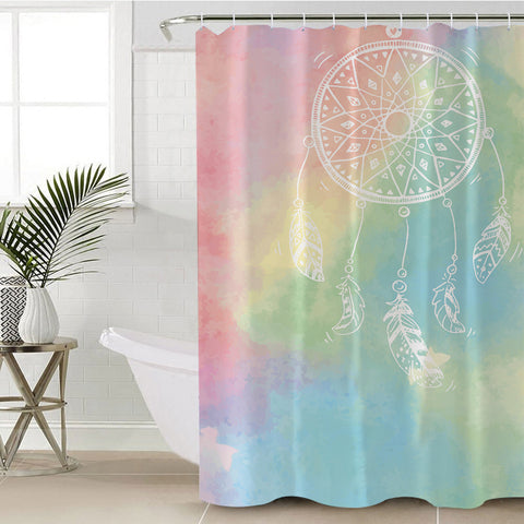 Rainbow Bohemian Dreams Shower Curtain