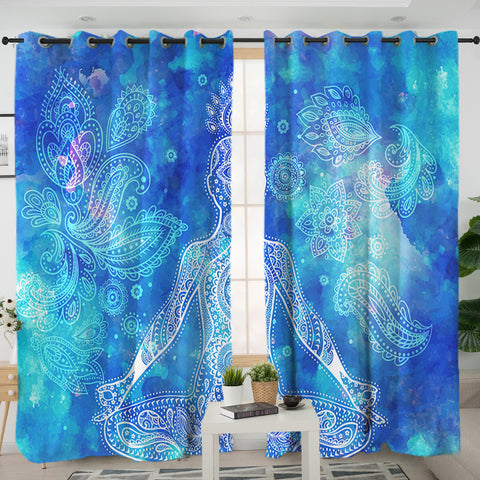 Tie-Dye Mandala Curtains