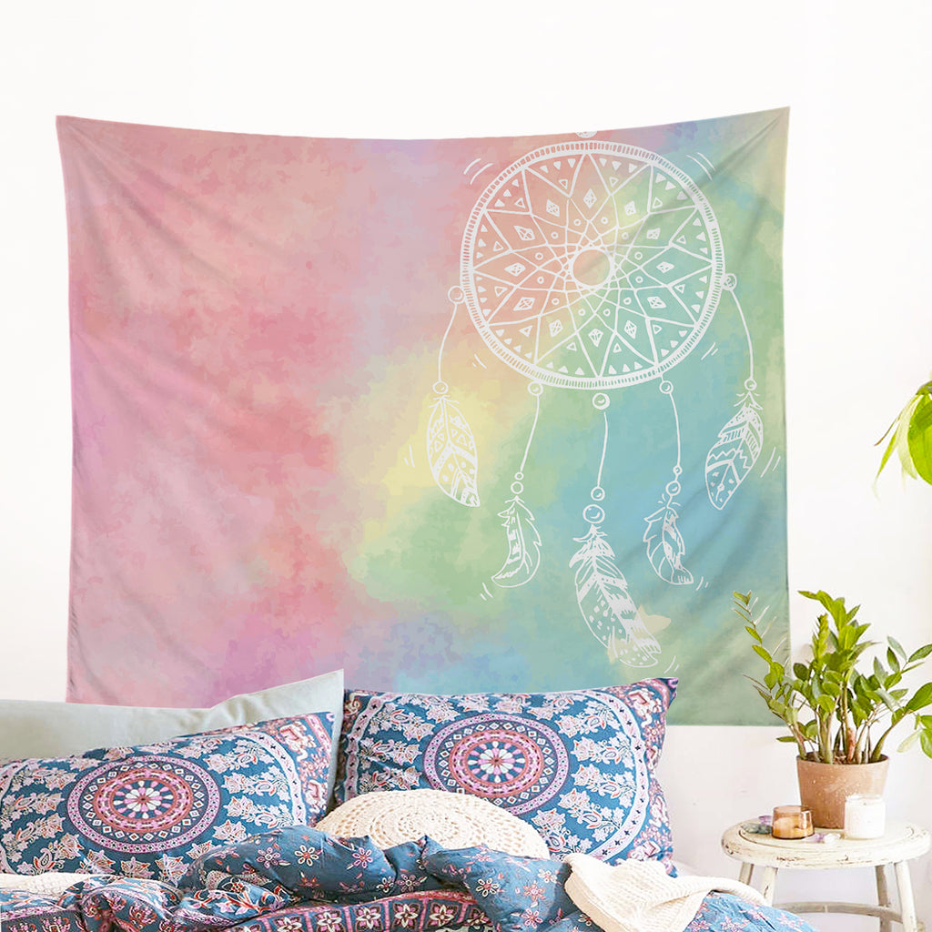 Rainbow Bohemian Dreams Wall Tapestry