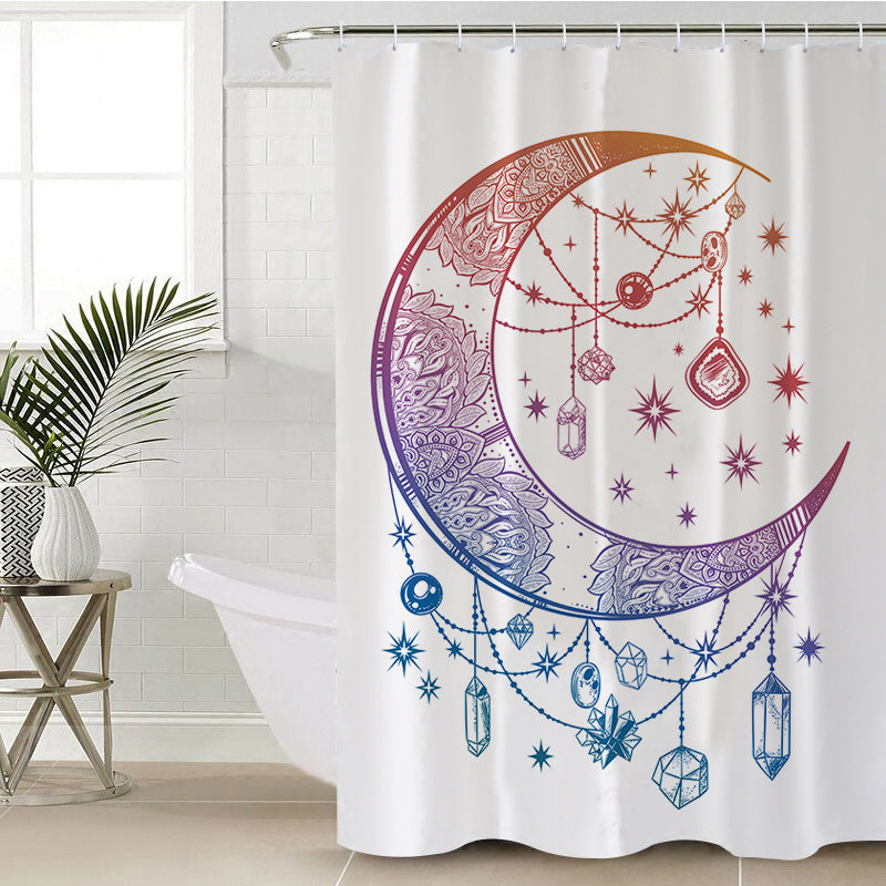 Crystal Nights Shower Curtain - Bohemian Vibes Australia