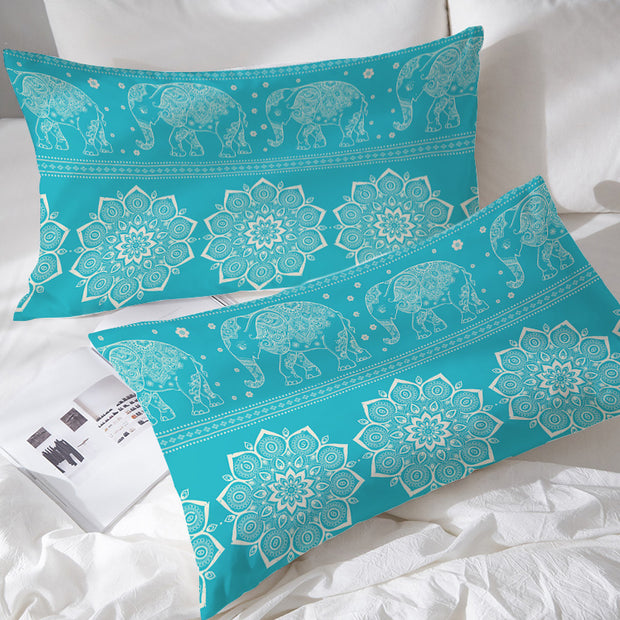 Turquoise Elephant Pillowcases