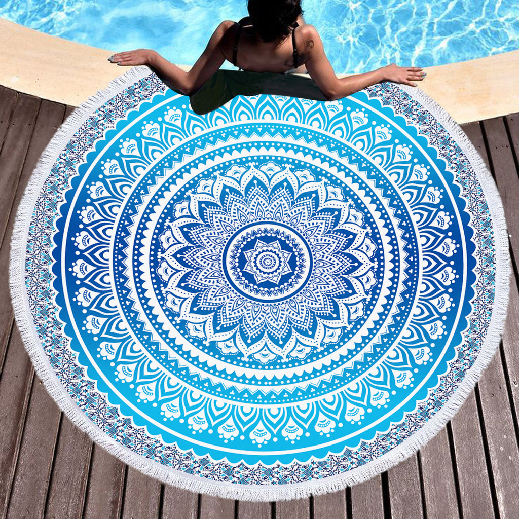 Neela Round Beach/Throw Towel - Bohemian Vibes Australia