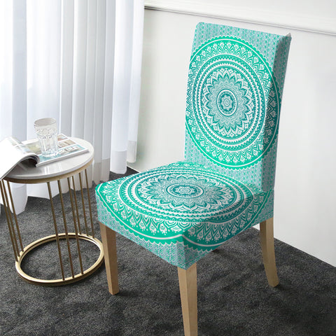 Mermaid Mandala Chair Cover