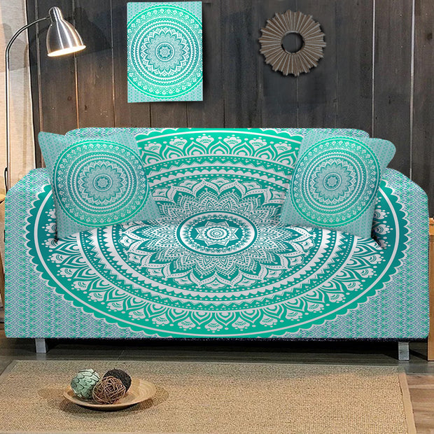 Mermaid Mandala Sofa Cover