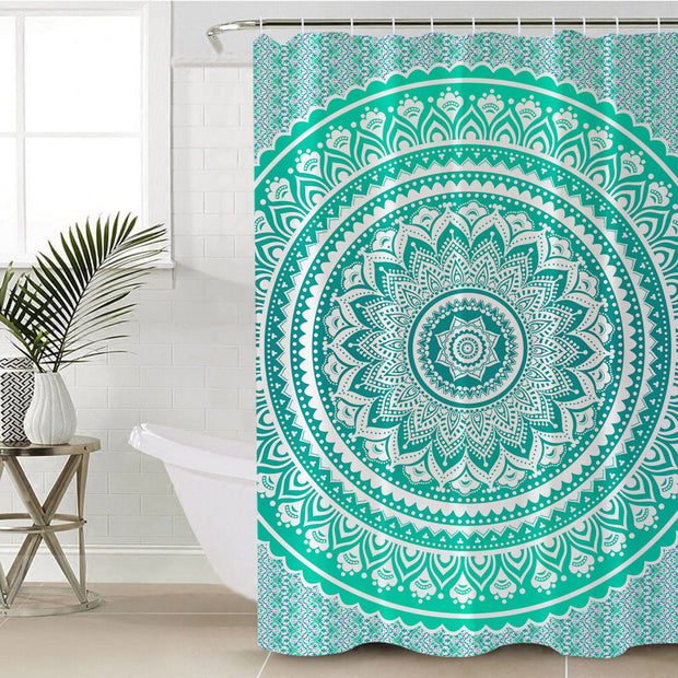 Mermaid Mandala Shower Curtain