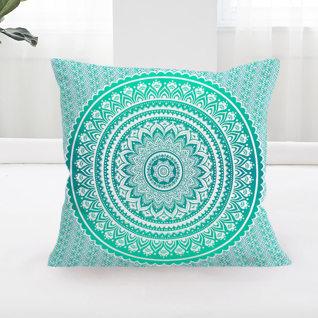 Mermaid Mandala Square Cushion Cover
