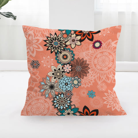 Coral Square Cushion Cover **LIMITED EDITION**