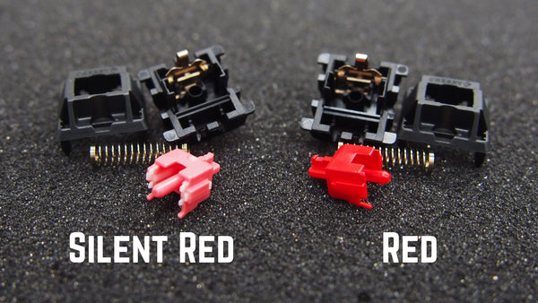 Cherry MX Silent red and Cherry MX red